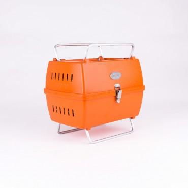 Aniva Mangal, klappbarer Grill, orange, Aluminium Guss Minigrill