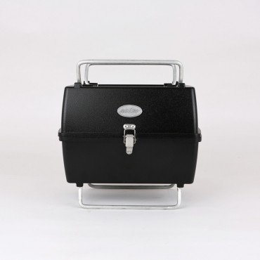 Aniva Mangal, klappbarer Grill, schwarz, Aluminium Guss, Minigrill
