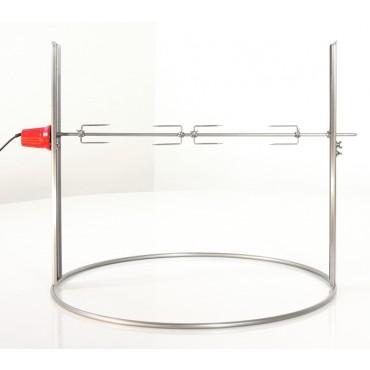 Elektrischer Drehspieß aus rostfreiem Edelstahl,80 cm,Ricon, solo