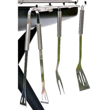 Werkzeug Set 3-teilig | Grillgabel, Grillzange, Bratenwender