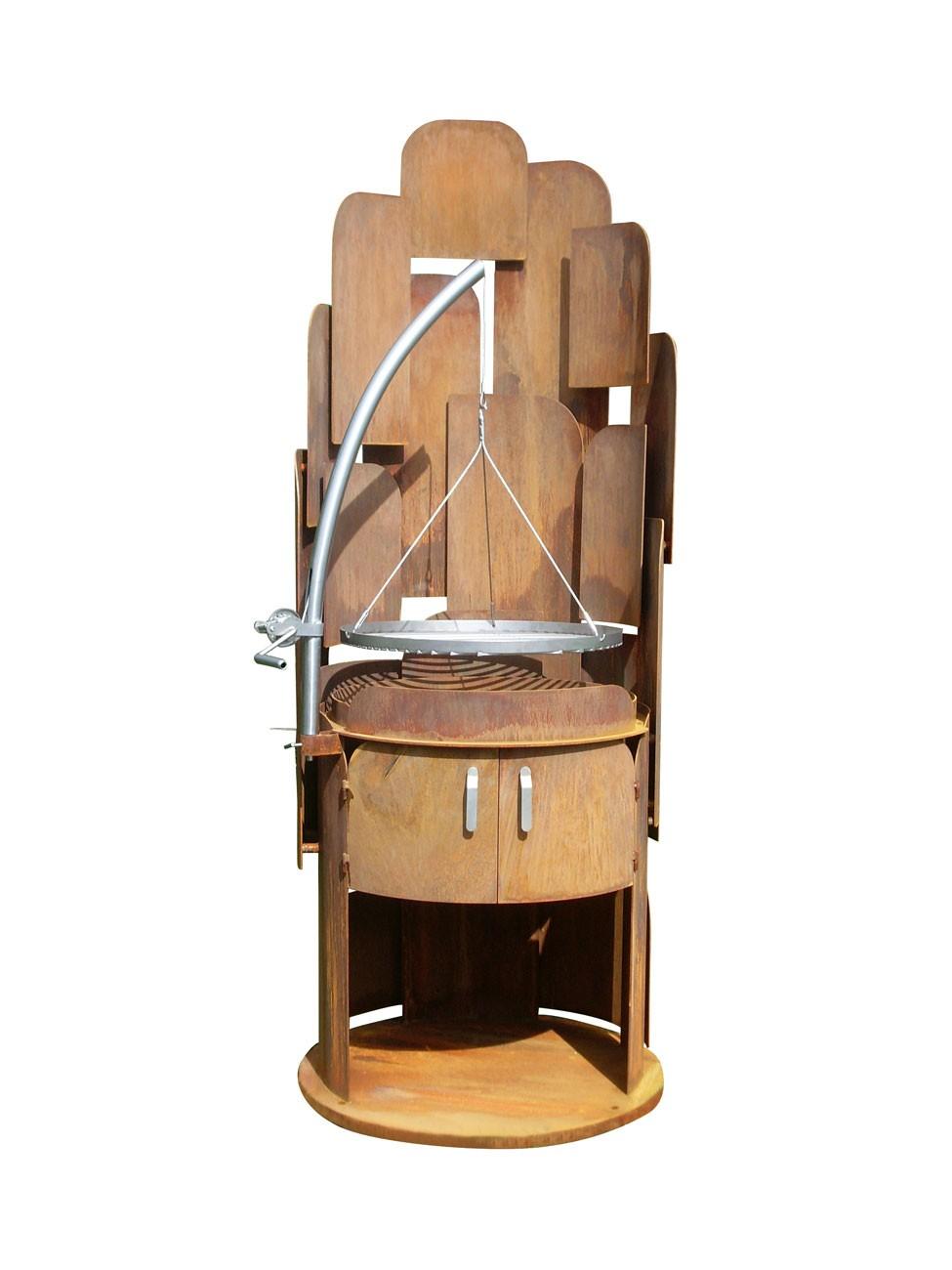 feuerskulptur mountain aus cortenstahl mit rundem rost 60 cm grill shop sandwichmaker. Black Bedroom Furniture Sets. Home Design Ideas