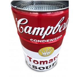 Campbell Style Grilltonne BBQ BarrelQ, groß, Edelstahl