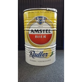 Amstel Bier Style Grillfass BBQ BarrelQ, groß, Edelstahl