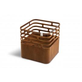 höfats Cube Feuerkorb, aus Cortenstahl für schönen Patina Look