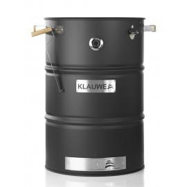 Klauwe Grillfass Premium, groß, Edelstahl, schwarz