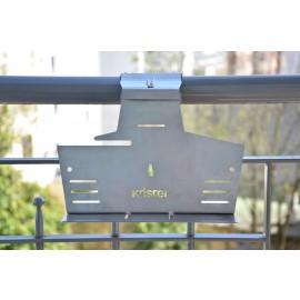 Knister Balkon Halterung, Edelstahl, geeignet für Knister Grill Small, Knister Grill Original
