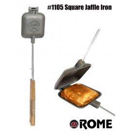 Sandwichmaker, eckig, Jaffle Style, 1105 rund aus Gusseisen von Rome Industries