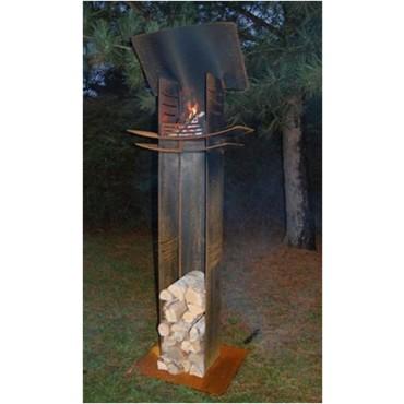Feuersäule/ Feuerskulptur