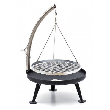 Nielsen Fire Pit Charcoal Grill 60cm (Protected Surface) with stainless steel grid
