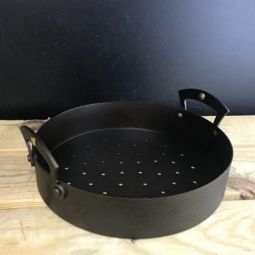 Netherton Spun Iron Chestnut Roasting Pan, 21,5cm