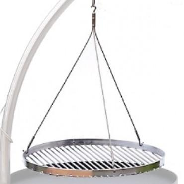 Runder Grillrost aus verchromten Stahl oder Edelstahl