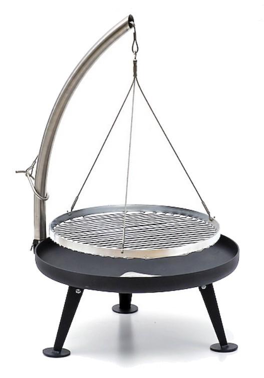 fire pit holzkohlegrill 60cm pulverbeschichtung und edelstahlrost bbq shop fire bowls