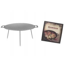 muurikka campfire pan, 58cm, steel, incl. adj. 3 legs