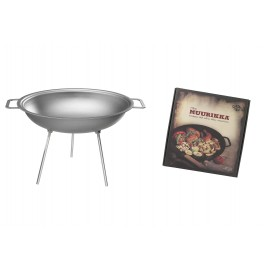 muurikka campfire wok, steel, 43cm, 9l, incl. 3 legs