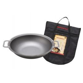 muurikka campfire wok, steel, 43cm, 9l, incl. cover bag