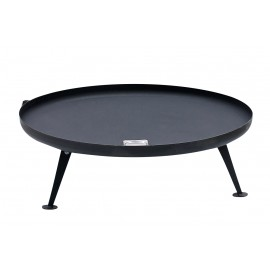 Fire Pit 120cm, black, coated