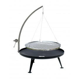 Fire Pit Ø 80cm Charcoal Grill (Patina Look)