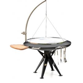 Bål Grill 120cmØ w. hanger + round grid/ st.st.