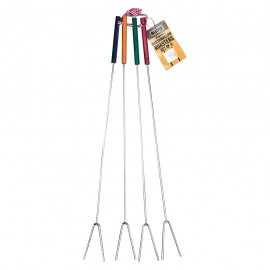 Rome Marshmallow Forks (Multicolored Handles), Set of 4 #2300