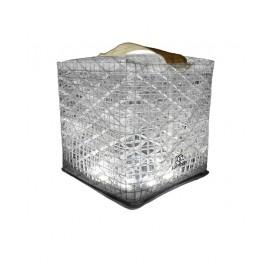 SolarPuff Solar Lantern foldable Camping, LED cold white