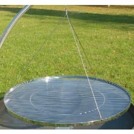Round Grid 80cmØ chromium