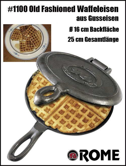 Rome S Old Fashioned Waffle Iron 1100 Bbq Shop Fire