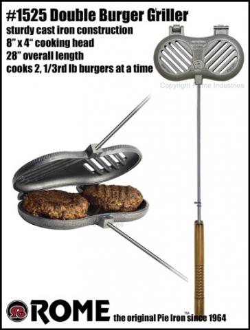 Rome Industries Hamburger Griller (doppelt) für offenes Feuer